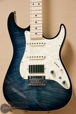 Tom Anderson Drop Top Classic in Arctic Blue Burst with Binding