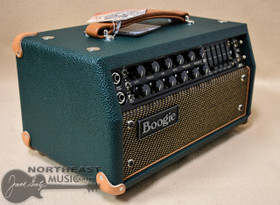Mesa Boogie Mark V 25 Amplifier Head in Emerald Bronco with Gold Jute & Tan Leather Corners (2.MM.117D.V11.G02.P03.H04.C02)