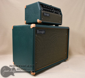 Mesa Boogie Mark V 25 Amplifier Head with Matching 1X12 Widebody Cabinet in Emerald Bronco with Gold Jute & Tan Leather Corners (2.MM.117D.V11.G02.P03.H04.C02 & 0.112WC.V11.G02.P03.H01.C02.C90+ )