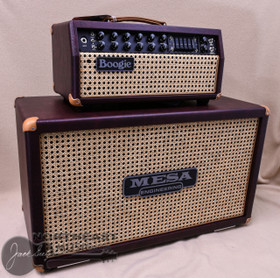 Mesa Boogie Mark V:35 Head & Matching 2x12 Rectoverb Cabinet in Wine Taurus with Wicker Grille and Tan Leather Corners