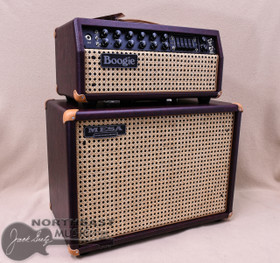 Mesa Boogie Mark V:35 Head & Matching 1x12 Widebody Cabinet in Wine Taurus with Wicker Grille and Tan Leather Corners