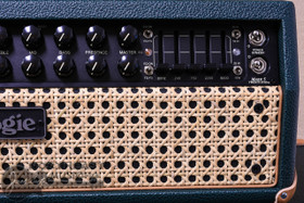 Mesa Boogie Mark V:35 Amplifier Head in Emerald Bronco with Wicker Grille and Tan Leather Corners (2.MM.117D.V11.G07.P03.H04.C02)