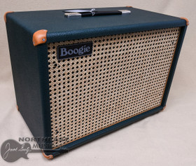 Mesa Boogie 1x12 Widebody Cabinet in Emerald Bronco with Wicker Grille, Tan Leather Corners, & Boogie Logo (0.112WC.V11.G07.P03.H01.C02.C90+)