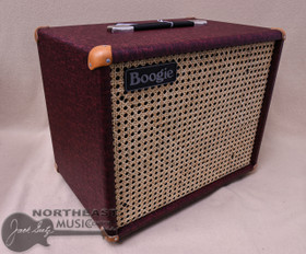 Mesa Boogie 1x12 Theil Cabinet in Vintage Bordeaux Bronco with Wicker Grille and Tan Leather Corners (0.112T.V25.G07.XXX.H01.C02.C90+)