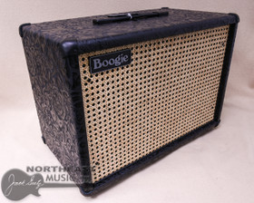 Mesa Boogie 1x12 Widebody Cabinet in Black Floral Leather and Wicker Grille (0.112WC.L14.G07.P01.H02.C01.V30+)