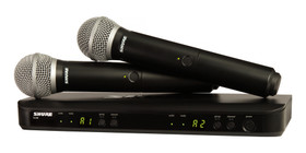 Shure BLX288/PG58-J10 Dual Channel Handheld Wireless Microphone System