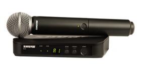 Shure BLX24/SM58 Handheld Wireless Microphone System