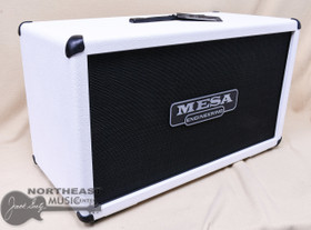 Mesa Boogie 2x12 Recto Horizonatal Closed Back Amplifier Cabinet in Hot White Bronco & Black Jute (0.212R.V15.G01.P01.H02.C01.V30)