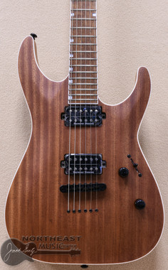 ESP/LTD MH-400NT Electric Guitar with Mahogany Top in Natural Satin Finish (MH-400NT_M)