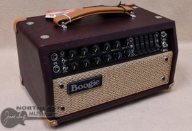 Mesa Boogie Mark V:25 Amplifier Head in Wine Taurus with Tan Jute Grille and Tan Leather Corners