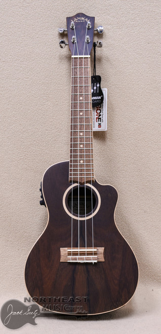 Lanikai Concert Acoustic Electric Ukulele with Cutaway & Ziracote Top, Back & Sides (ZR-CEC)
