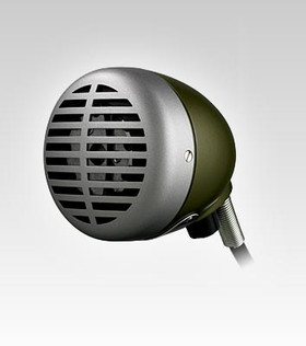 SHURE 520DX GREEN BULLET HARMONICA MICROPHONE