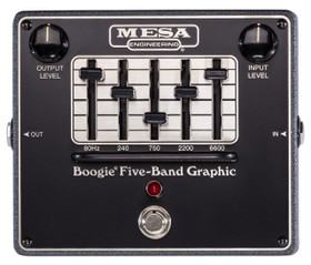 Mesa/Boogie Boogie Five-Band Graphic EQ Pedal w True Bypass