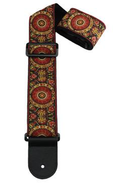 Henry Heller woven asian motif design guitar strap