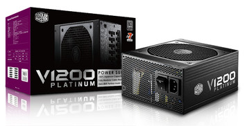 Cooler Master V1200 -  1200W Full Modular 80+ Platinum Certified Power Supply with 0 dBA fanless mode