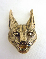 Caracal Head Pendant 14kt