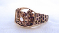 Serval Savannah Mens Ring 14k