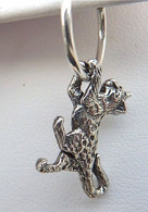 Bengal Cat Charm Sterling Silver