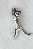 Savannah Cat Charm Sterling Silver