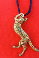 Savannah Cat Pendant 14kt Large