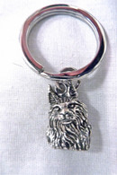 Maine Coon Cat Key Chain Sterling Silver