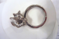 Bengal Cat Key Chain Sterling Silver
