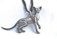 Siamese Cat Pendant Sterling Silver