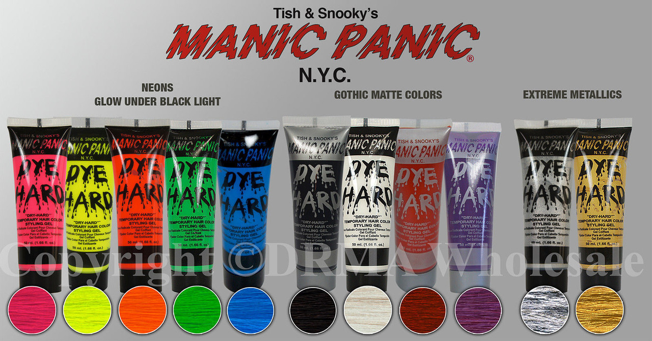 manic panic dye hard instructions
