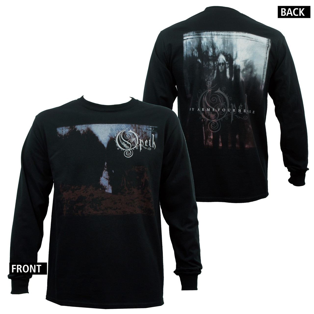 Opeth long sleeve t shirt my arms merch2rock for Shirts for men with long arms