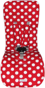 """Minnie"" Polka Dot White & Red to fit Mountain Buggy"