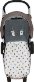 Crosses Grey & Gold  Universal Fit Snuggle Bag