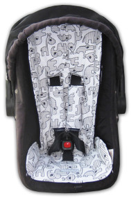 Baby Animals Strider Capsule Liner - cotton on both sides