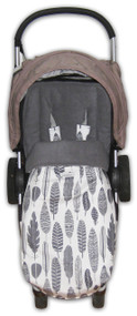 Grey Feathers Universal Fit Snuggle Bag- back in stock!