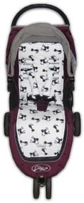 Cats Black & White to fit Baby Jogger - all cotton