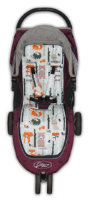 Forest Animals Cotton Pram Liner to fit Baby Jogger - back in stock!