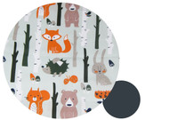 Forest Animals Cotton Pram Liner to fit Phil&Teds - sold out