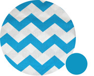 Chevron Aqua Pram Liner to fit Phil & Teds