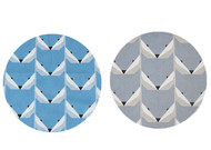 Geo Fox Blue & Grey Cotton Double Pram Liner to fit Baby Jogger City Mini GT