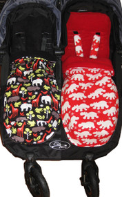 """Mix and Match"" 2x Snuggle Bag / Footmuff"
