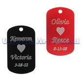 Anodized Aluminum Dog Tag with a Chain                        Free Engrave