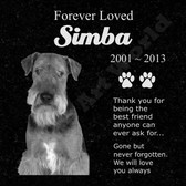 Memorial - Black Granite Grave Marker - We'll Customize Photos.