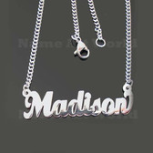 Madison Name Necklaces. Next day ship. NeverTarnishes