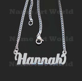 Hannah Name Necklaces. Next day ship. NeverTarnishes