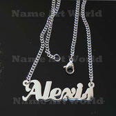 Alexis Name Necklaces. Next day ship. NeverTarnishes