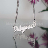 Alyssa Name Necklaces. NeverTarnishes