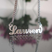 Lauren Name Necklaces. NeverTarnishes
