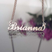 Brianna Name Necklaces. NeverTarnishes