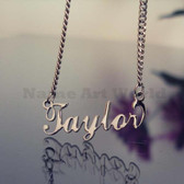 Taylor Name Necklaces. NeverTarnishes