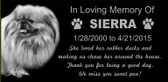 Dog / Pet Memorial  Grave Marker - We Customize Your Words and Photo and More