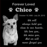Pet Memorial Marker - We Customized Your Words and Photo and much More
